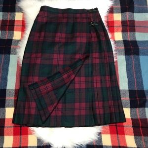 JAMES PRINGLE WEAVERS Tartan Kilt Skirt Pure Wool